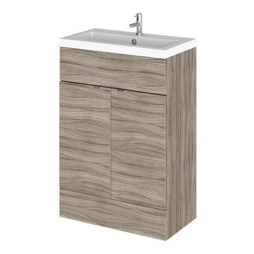 Elite Driftwood 600mm Full Depth Vanity Unit & Basin